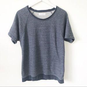 Everlane | Short Sleeve Heathered Navy Sweatshirt